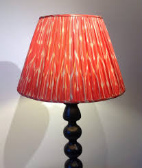 red silk lamp shade large red cream patterned ikat lampshade