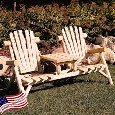 Tete A Tete Garden Furniture by Lakeland Mills Classic Cedar Log Adirondack Chair Hayneedle