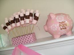 Mod Baby Shower by Perfect Design Pink And Brown Baby Shower Decorations Appealing A