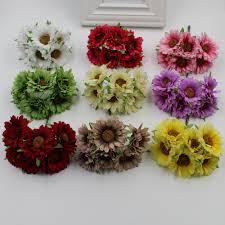 bouquet diy new 36 pieces batch daisy flower sunflower artificial silk
