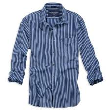 ae men u0027s date shirt blue stripe american eagle outfitters