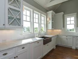 farm style kitchen sink barn faucet farmhouse white cabinets