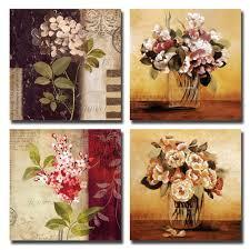 amazon com gardenia art 12 inch by 12 inch retro flowers framed