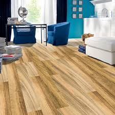 Light Brown Laminate Flooring Removable Wood Grain Decorative Floor Sticker In Light Brown