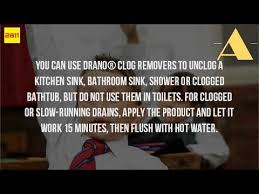 Kitchen Sink Clog Remover by Can You Put Drano In The Kitchen Sink Youtube