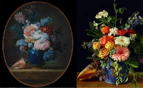 photos of flowers still life flower arrangements inspired by famous paintings for