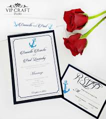 Wedding Invitations And Rsvp Cards Navy Blue Wedding Invitation Rsvp Cards Set Of 10 Vip Craft