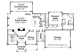 House Plans With Vaulted Great Room by Craftsman House Plans Pacifica 30 683 Associated Designs
