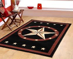 Black And Brown Area Rugs Texas Western Star Rustic Cowboy Decor Area Rug Brown Black 625