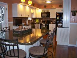 french kitchen island black metal chairs and round brown seat plus white wooden kitchen