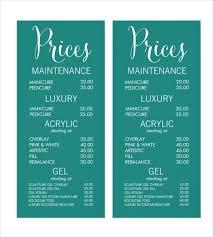 22 price menu templates u2013 free sample example format download