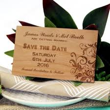 Save The Date Wedding Cards Personalised Engraved Wooden Cherry Wedding Save The Date Card