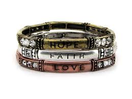 faith bracelets tri tone faith bracelet set d s keepsakes wholesale