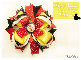 minnie mouse hair bow the290ss minnie mouse inspired hair bow tutorial