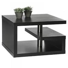 Square Black Coffee Table Table Incredible Rectangle Modern Laminated Wood Small Black