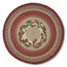 Braided Rugs Cranberry Jute Braided Rug U0026 Stair Treads Country Style Accent Rug