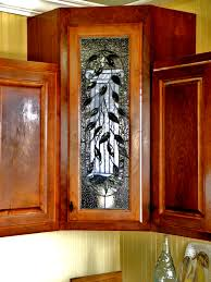 custom kitchen cabinet doors clear textures in stained glass 2
