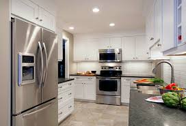 White Kitchen Cabinets With Tile Floor Cabinet Kitchen White Gray Childcarepartnerships Org