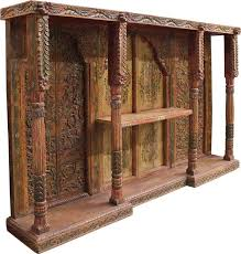 antique carved u0026 painted wall unit cabinets home furnishings