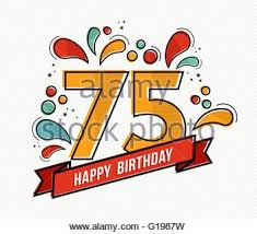 happy birthday number 75 greeting card for seventy five years in