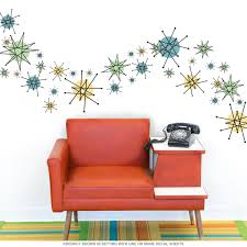 Dining Room Decals Atomic Starburst 50s Style Wall Decals Sheet Medium Atomic Age