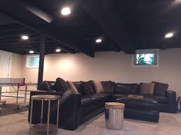 black basement ceiling paint decor idea stunning fantastical to
