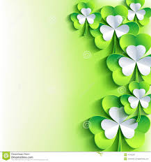st patrick u0027s day card with green and grey leaf clover stock