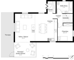plan d une chambre plan maison plain pied 3 chambres meilleur de 7 newsindo co