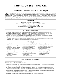 sample financial controller resume controller resume summary