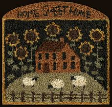 Sunflower Rugs Free Punch Needle Patterns Google Search Penny And Hooked Rugs