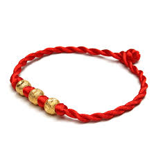 lucky red string bracelet images Alloy gold beads red string rope wealth lucky bracelet jpg