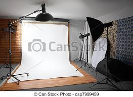 White Backdrop Photography Stock Photographs Of White Background Inside Studio Dark Room