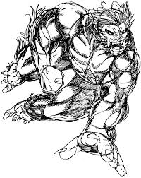 how to draw beast from marvel u0027s x men superhero team drawing