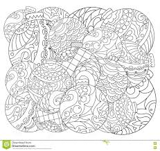 christmas tree ornament coloring page vector coloring page