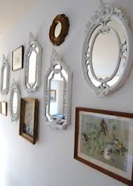 Mirror Collage Wall Labor Day Sale Distresed Frame Set And By Thedezignshoppe On Etsy