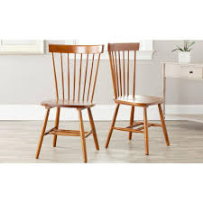 Light Dining Chairs Safavieh White Wood Dining Chair Set Of 2 Amh8500a Set2