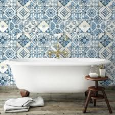 peel and stick wallpaper tiles mediterranean tile peel and stick wallpaper roommates
