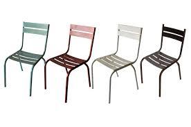 chaise m tallique chaises en métal de couleur pour les restaurants ou bars