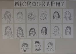 art paper scissors glue micrography portrait