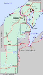 map of calumet michigan houghton county map tour lakes snowmobile atv river hike
