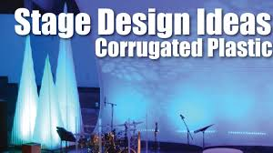 church stage design ideas corrugated plastic christmas trees