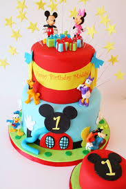 How To Decorate Birthday Cake The 25 Best Mickey Mouse Birthday Cakes Ideas On Pinterest
