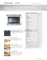 electrolux icon speed oven manuals