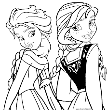 printable anna and elsa coloring pages only coloring pages