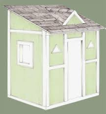 Backyard Clubhouse Plans by Playhouse Plans Easy To Build Playhouse Plan For Backyard