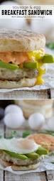 how to make sriracha mayo sausage and egg breakfast sandwich recipe with sriracha cilantro