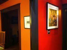 red orange kitchen interior design