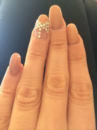 acrylic nail design beige nailpolish bow design nail design