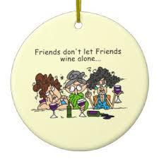 friends and wine ornaments keepsake ornaments zazzle
