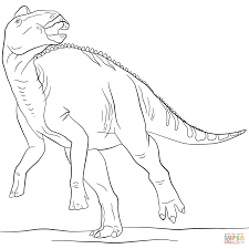 jurassic edmontosaurus coloring page free printable coloring pages